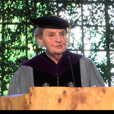 Top-Ten-2016-Graduation-Speeches---Madeleine-Albright