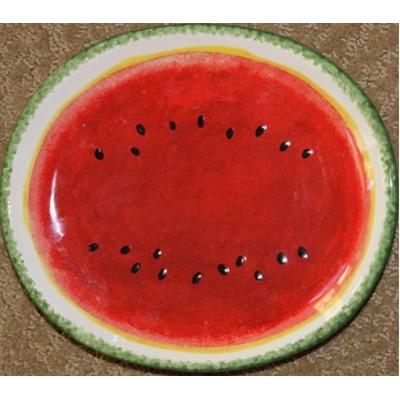 Watermelon-motif---serving-platter