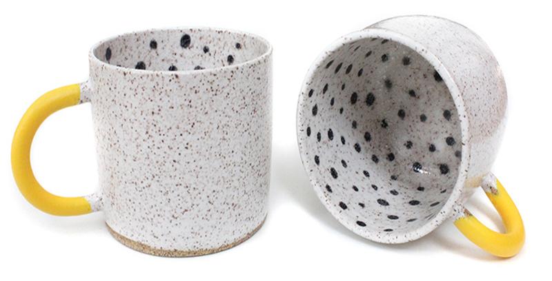 Mugs---Rubber-dipped-polka-dot-mug