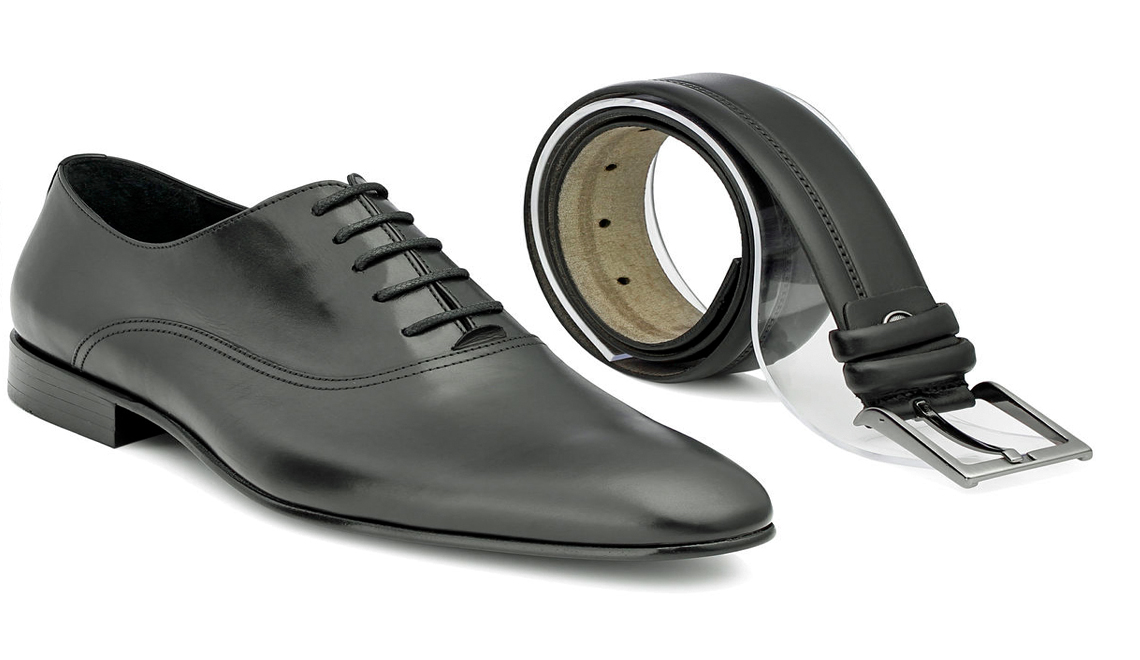 men's belts and shoes