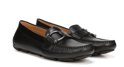 black smoking loafers