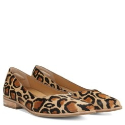 Tan leopard smoking loafers