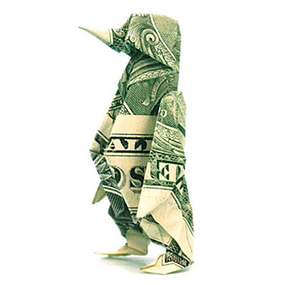 Koi Fish Money Origami - Dollar Bill Art Animal Stock Image ... | 400x400