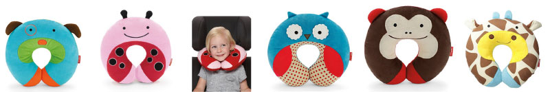 Long distance travel with kids neck pillows