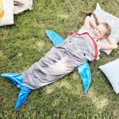 Travel with kids shark sleeping bag