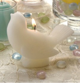 Bird candles for your table, Ivory Songbirds