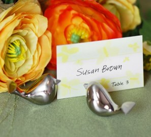 Love bird card holders for the Springtime Table