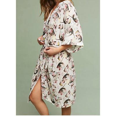 short kimono style robe