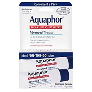 Drugstore travel essentials Aquaphor chapstick