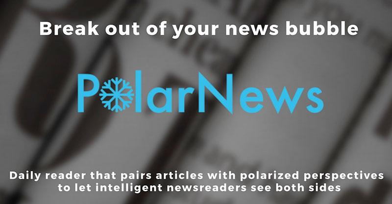 Polar news helps bursts filter bubbles