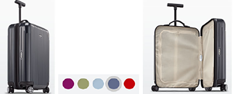 Rinowa modern carry-on suitcase