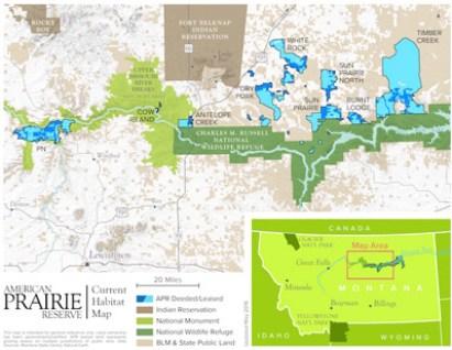 American Prairie Habitat Map