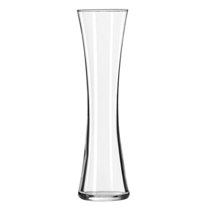 glass long neck flare top bud vase
