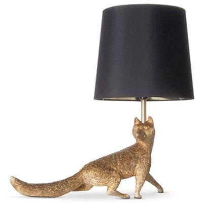 Animal table lamp, fox