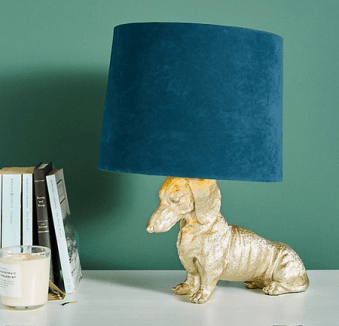 dachscund table lamp