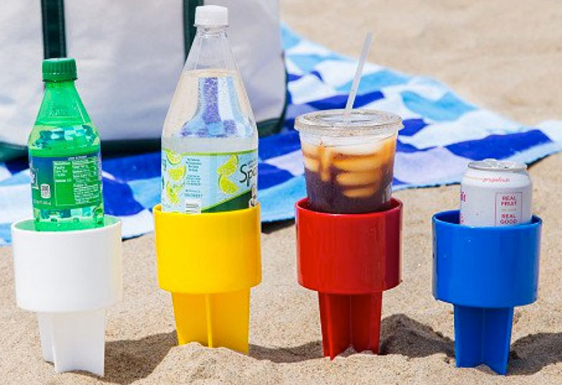 Spiker sand drink holders outside
