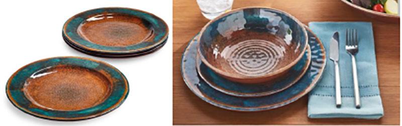 rustic unbreakable melamine dinnerware