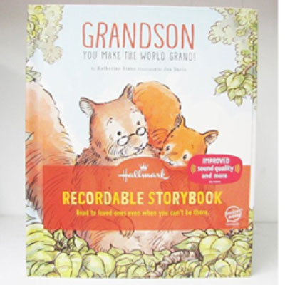Recordable storybook for grandson