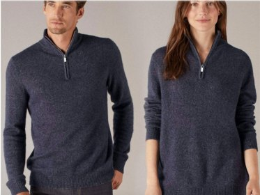Wool Cashmere Quarterzip Sweater