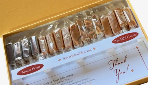 Sweet Jules caramels surprising stocking stuffers ideas