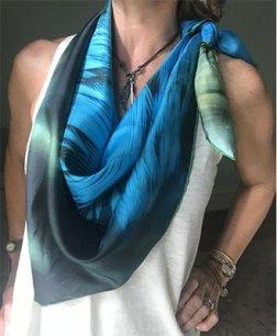 100% Italian silk scarf