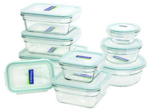 re-usable food wrap glass containers