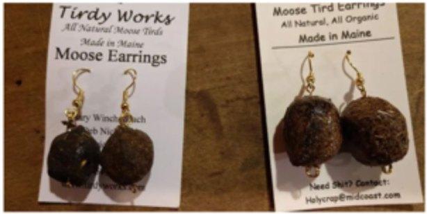 Moose turd earrings