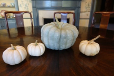 decorate fall table with pumpkins
