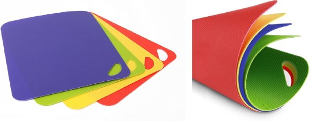 BPA-free flexible cutting boards
