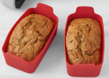 Mini silicone loaf pans