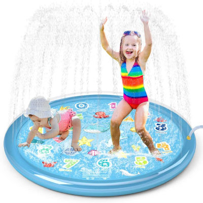 slip and slides and sprinklers