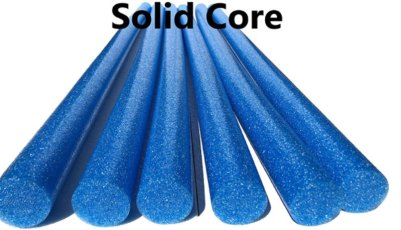 Water workout solid core noodles