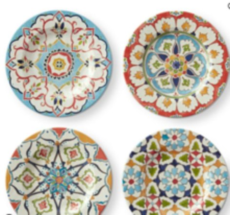 Turkish Iznik Tile salad plates