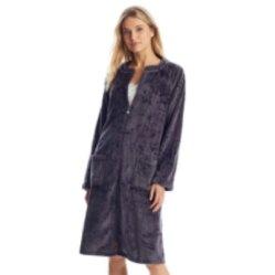 plush zip-up robe