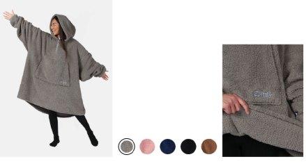 wearable blankts with a hood