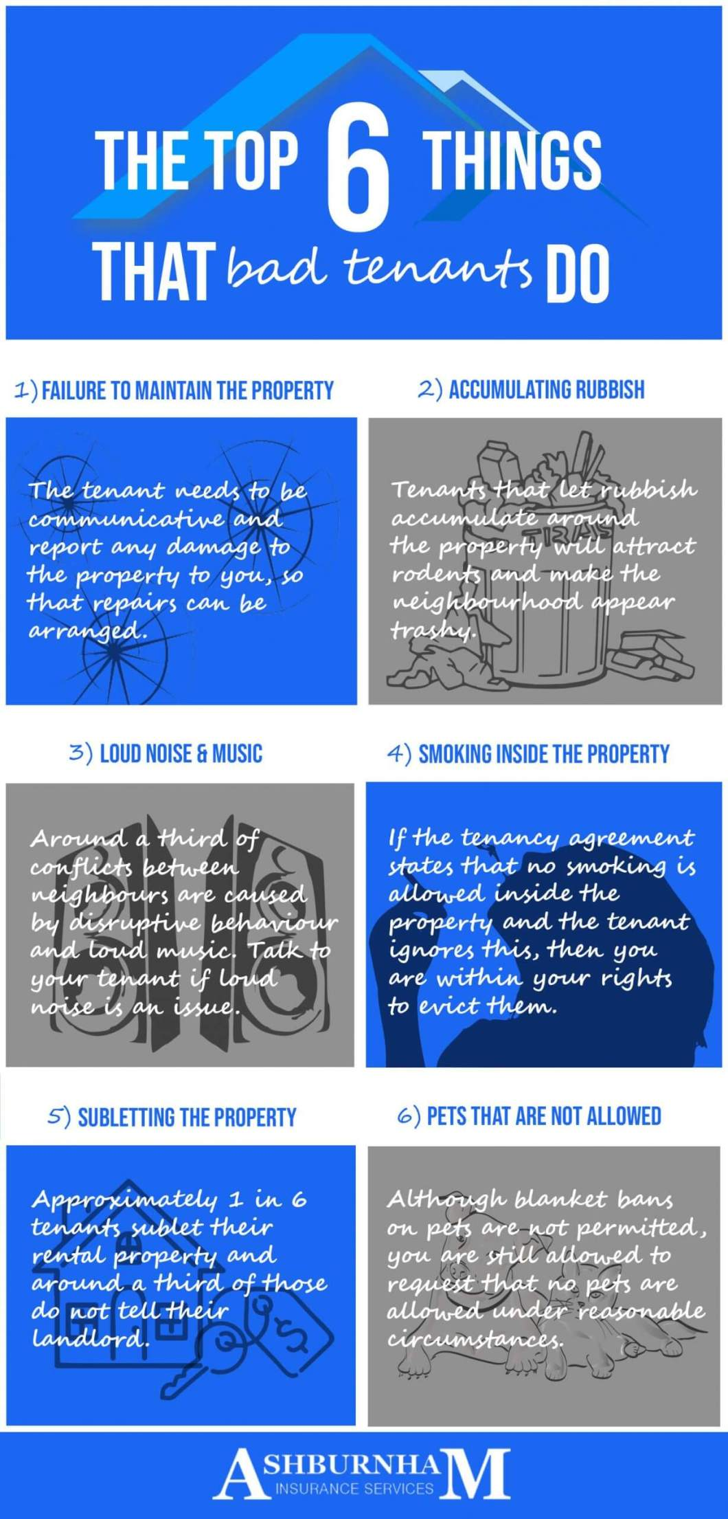 6 Things That Bad Tenants Do Infographic