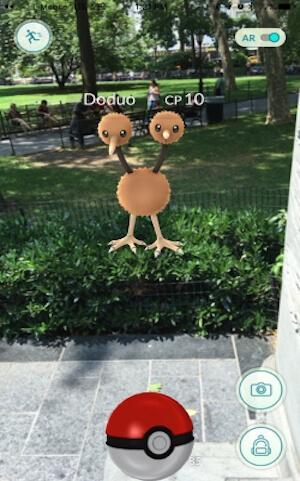 Catching Pokemon on Pokemon GO