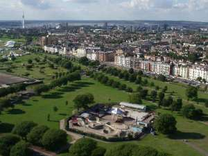 Aerial view of Southsea