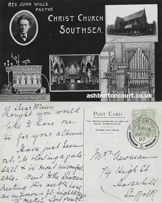 Church Front 1907 & The Ashburton Hall