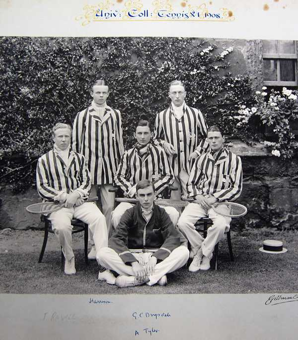 Tennis 1908 Alfred Tylor University College, Oxford photo