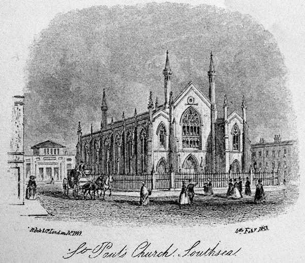 St Pauls Church Southsea 1853