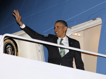 Barack Obama mardi 19 mars alors qu'il s'apprête à s'envoler pour Israël. REUTERS/Jason Reed