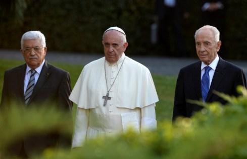 le pape shimon perez et abou mazen
