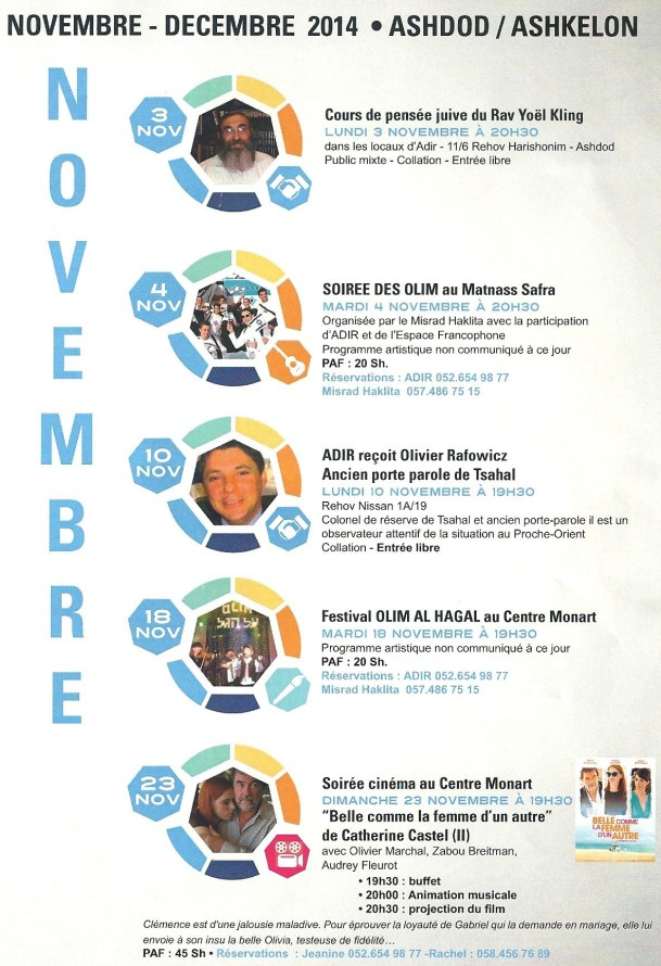 programme activites nov dec 2014