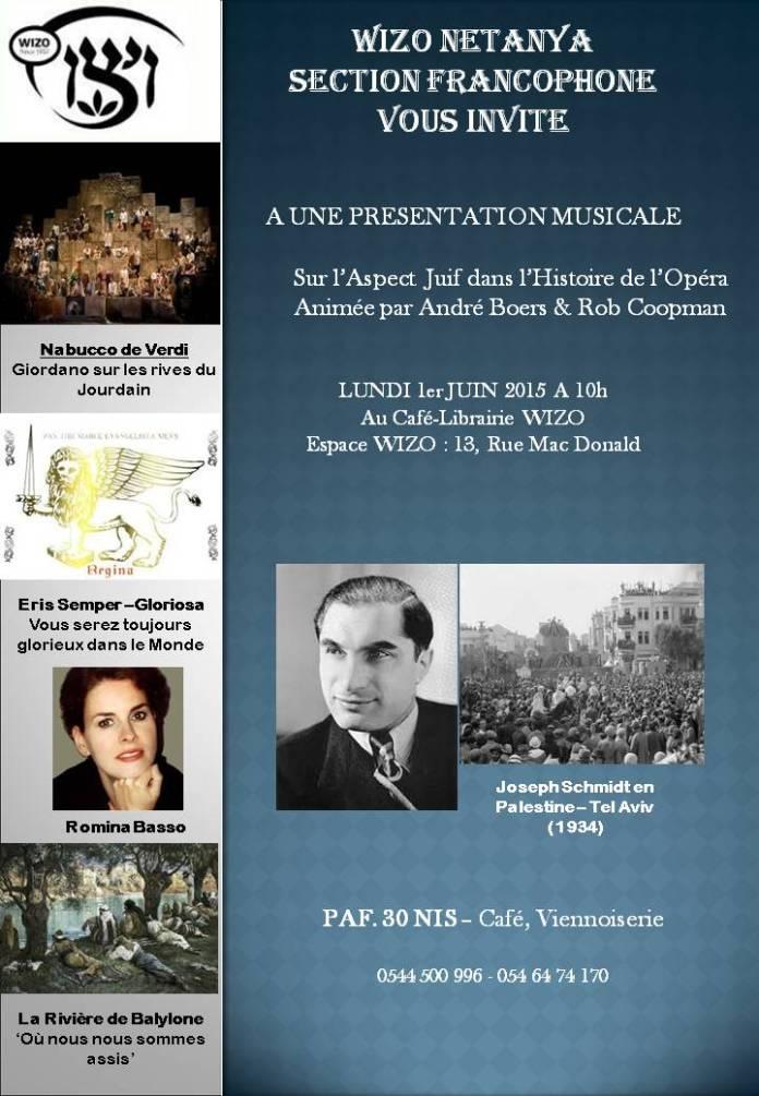 flyerAspects juifs dans l'Opera