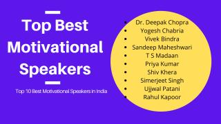 Top 10 Best Motivational Speakers in India