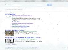 Google Christmas Easter Egg let it snow