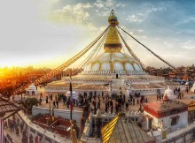 Boudhanath - World heritage site inside Kathmand, Nepal