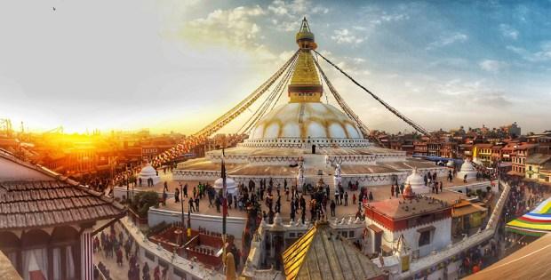 Boudhanath - World heritage site inside Kathmand, Nepal