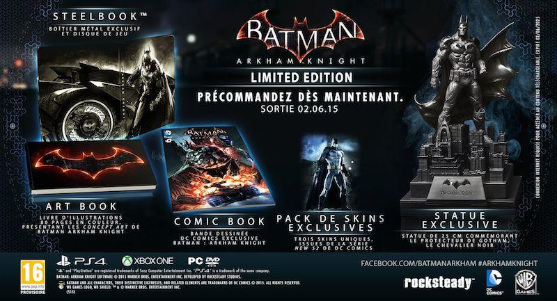 Actualité - Batman Arkham Knight - date de sortie et éditions collector - édition limitée